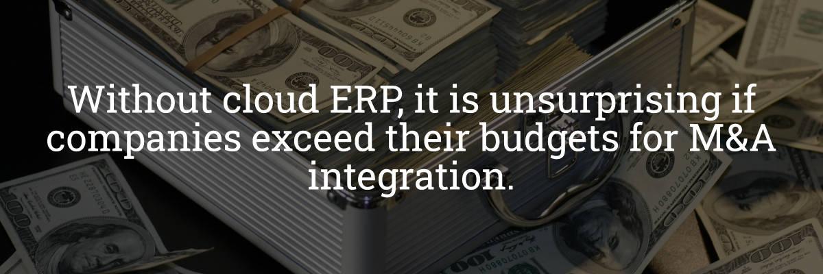 Cloud ERP Budget