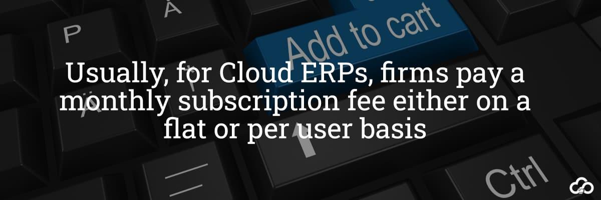 Cloud ERP Pricing