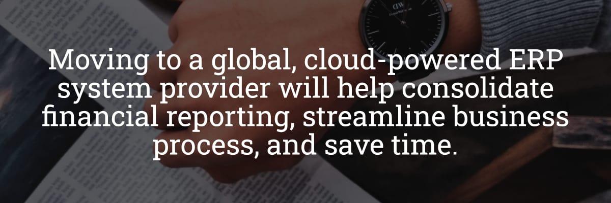 Global Cloud ERP Provider