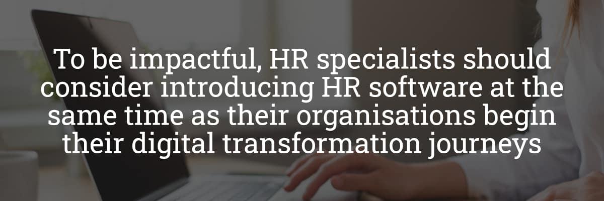 HR Software Digital Transformation